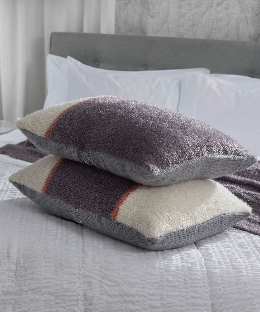 Free Knitting Pattern for Color-Block Knit Pillows