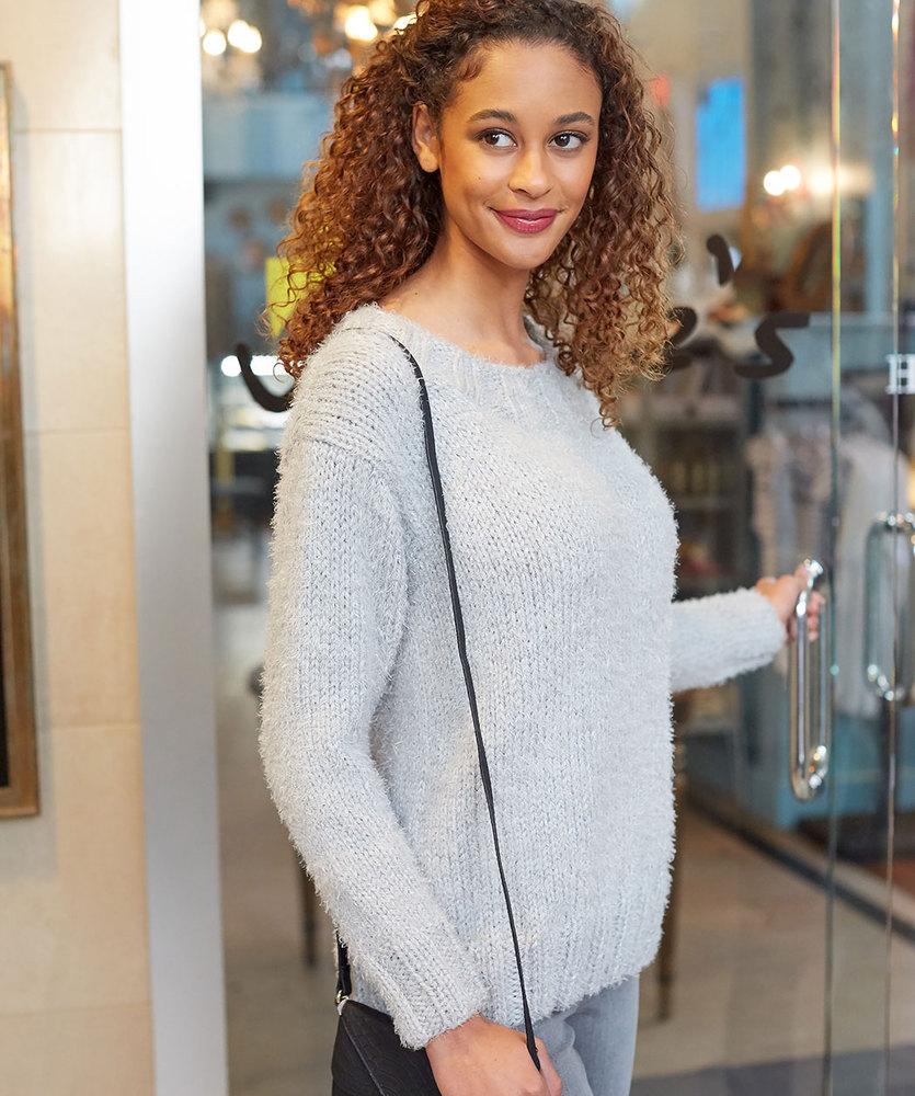 Free Knitting Pattern for So Soft Comfy Sweater ⋆ Knitting Bee