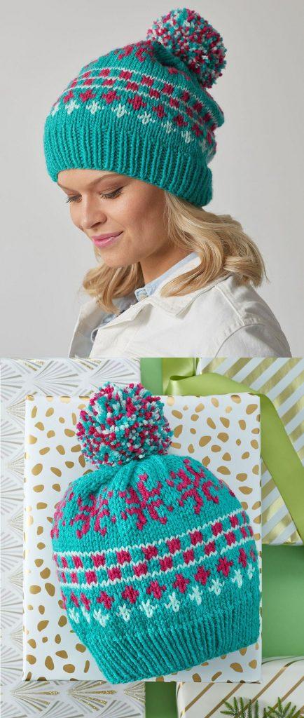 Free Knitting Pattern for Vivid Fair Isle Hat