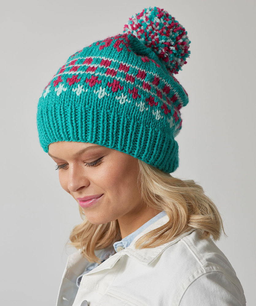 Free Knitting Pattern for Vivid Fair Isle Hat