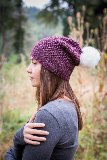 Free Knitting Pattern for a Alux Slouch Hat
