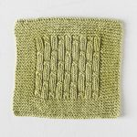 Free Knitting Pattern for a Bamboo Rib Dishcloth