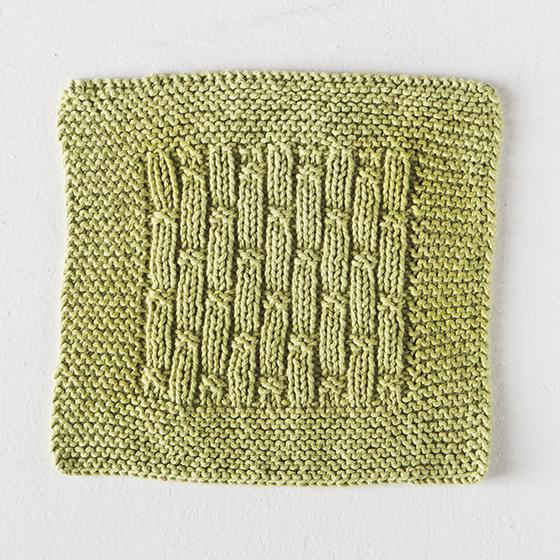 Free Knitting Pattern for a Bamboo Rib Dishcloth