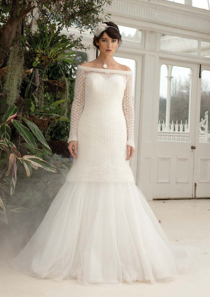 Free Knitting Pattern for a Formal Dress, Wedding Dress Knitting Pattern