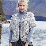 Free Knitting Pattern for a Jutka Cardigan with Chunky Yarn