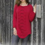 Free Knitting Pattern for a Lace Sweater Red Tulip