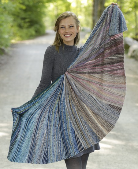 Free Knitting Pattern for a Night Butterfly Shawl