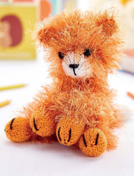 Free Knitting Pattern for a Quick to Knit Cat