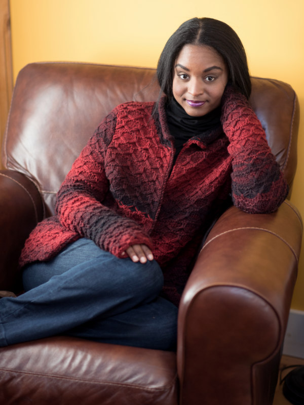 Free Knitting Pattern for a Slipped Stitch Cardigan