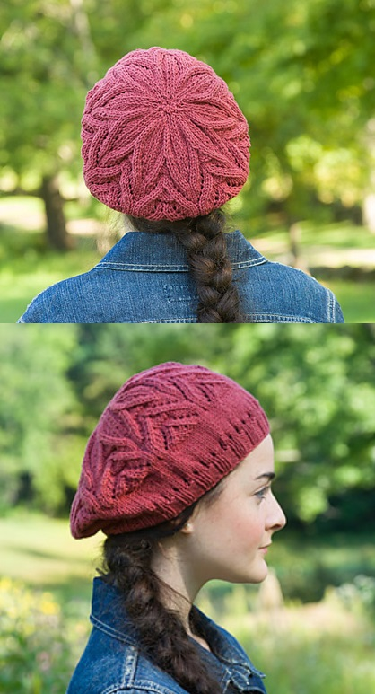 Free Knitting Pattern for a Slouchy Beanie with Eyelets