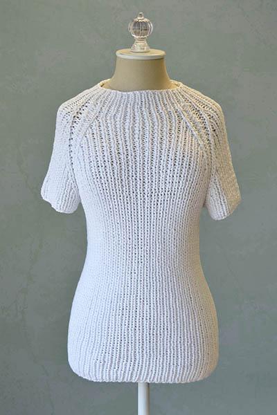 Free Knitting Pattern for a Women's Raglan Tee
