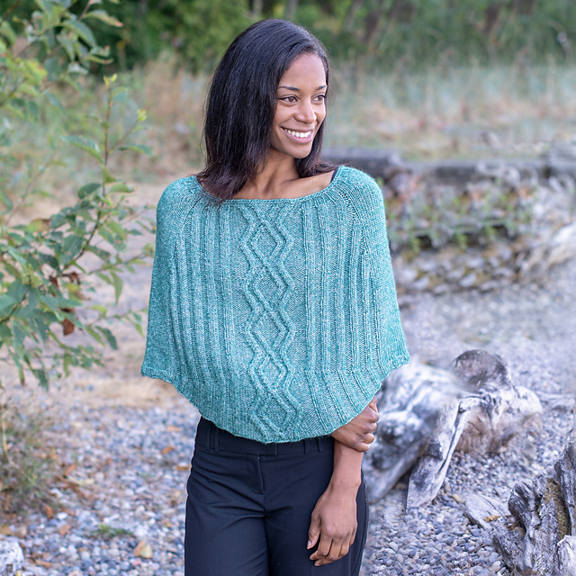 Free Free Cabled Poncho Knitting Patterns Patterns Knitting Bee