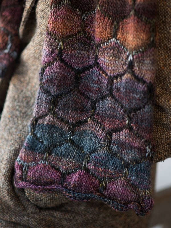 Free Knitting Pattern for an Easy Slipped Stitch Scarf