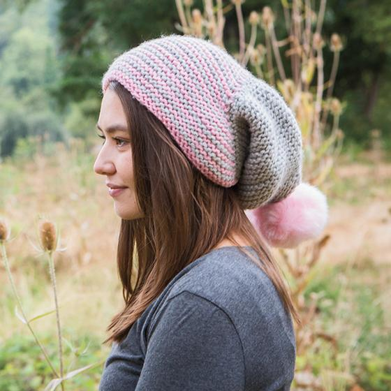 Free Knitting Pattern for an Equilateral Slouch Beanie