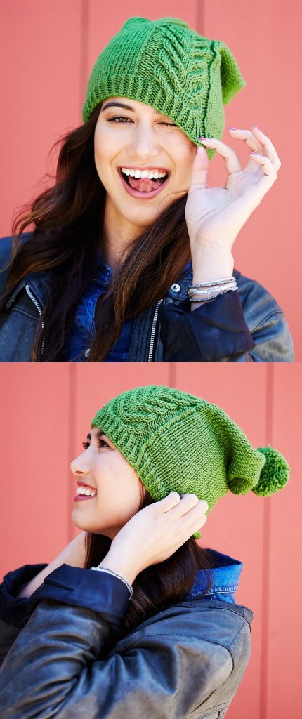 Free Slouchy Hat Knitting Patterns with Cables