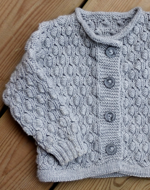 Free knitting pattern for a baby and toddler cardigan