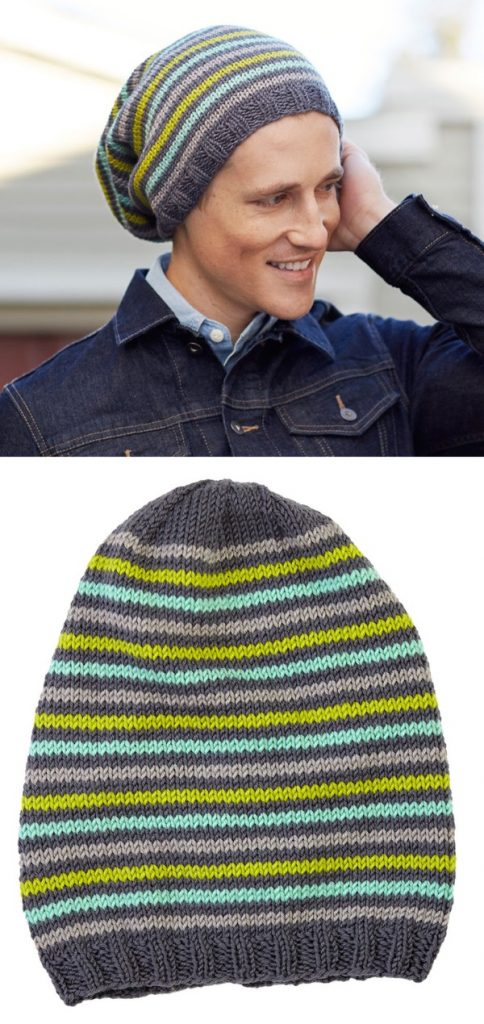 Mens slouchy beanie knitting pattern free