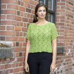 Free Knitting Pattern for a Lace Spritely Top