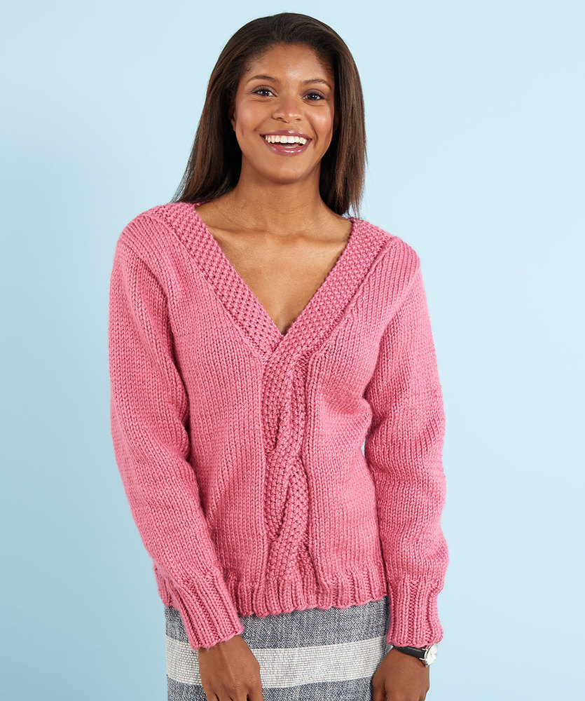 Free Knitting Pattern for a Lovely Cable Knit Sweater
