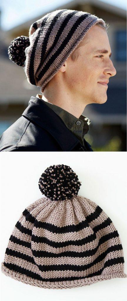 Free Knitting Pattern For A Skater Chic Hat For Men Knitting Bee