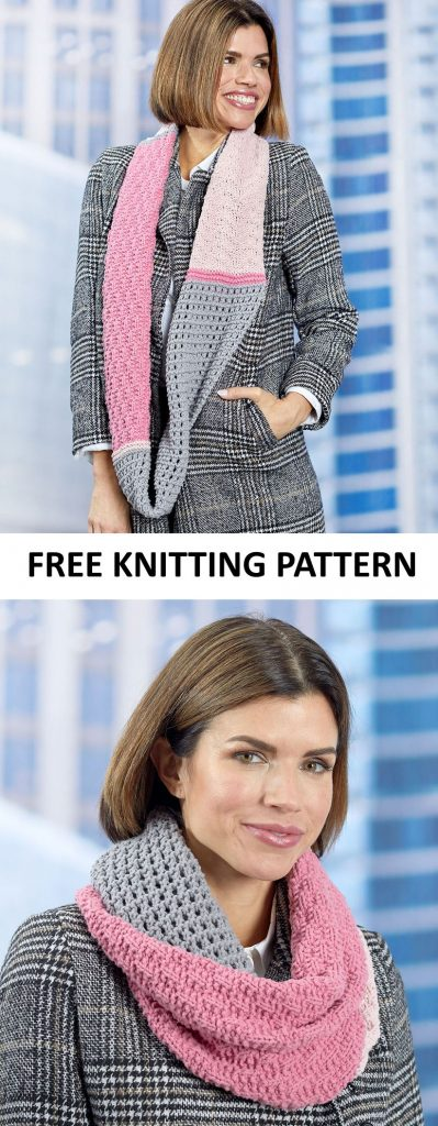 Free Knitting Pattern for a Stunning Sampler Stitch Cowl
