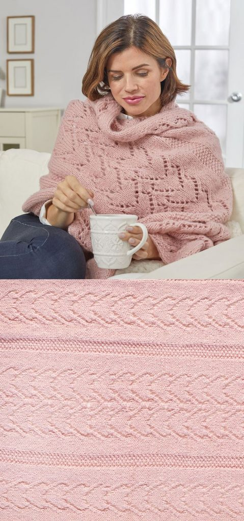 Free Knitting Pattern for a Warming Hearts Shawl. Lace shawl with hearts.