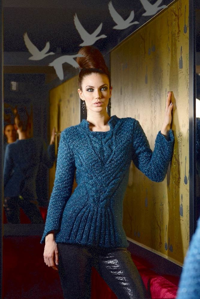 Free Knitting Patterns for a Cable Stitch Fitted Sweater
