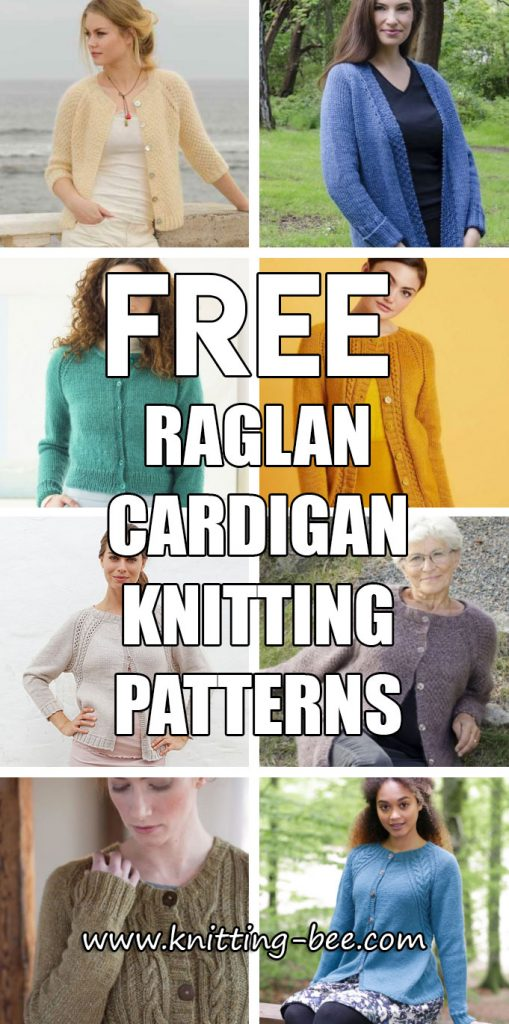 Free Raglan Cardigan Knitting Patterns