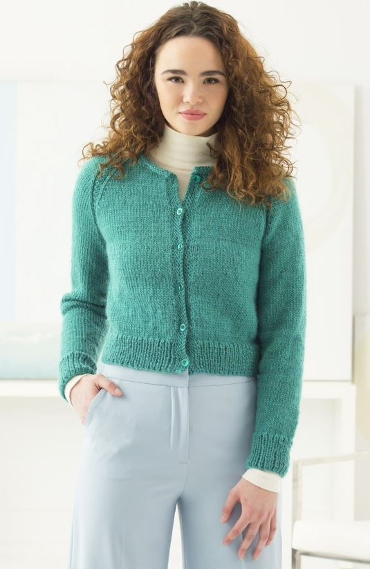 Free raglan cardigan knitting pattern