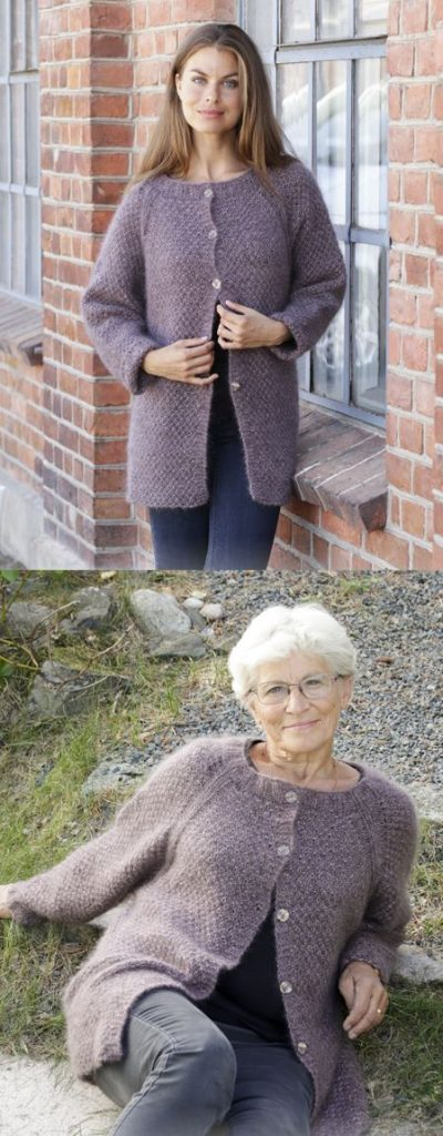 Free raglan cardigan knitting patterns with seed stitch