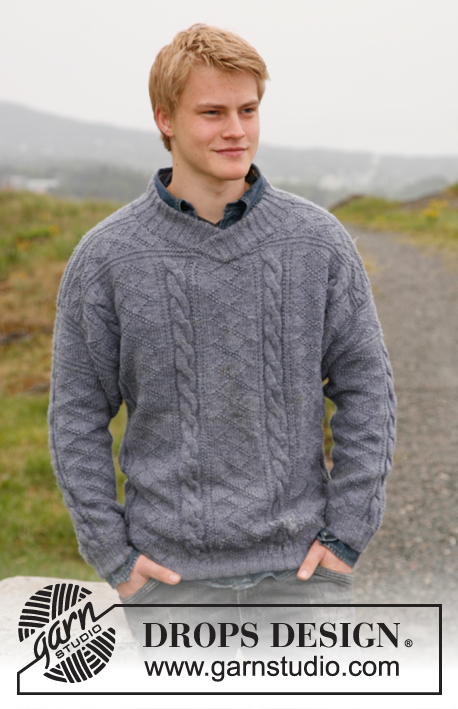 Men's Cable Knit Sweater Pattern Free Traditional