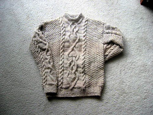 Men's Cable Knit Sweater Pattern Free Wash's Sweater