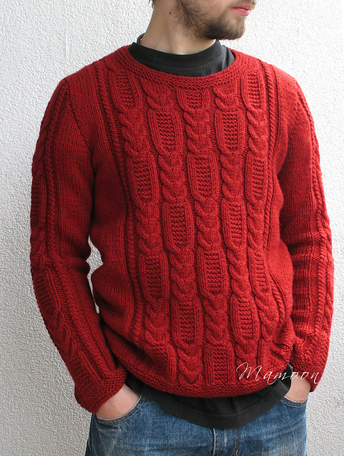 Men's Cable Knit Sweater Pattern Free