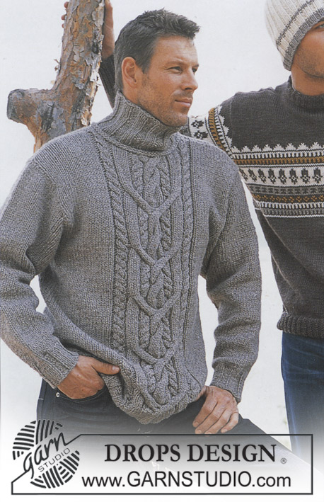Mens king cable sweater free knitting pattern