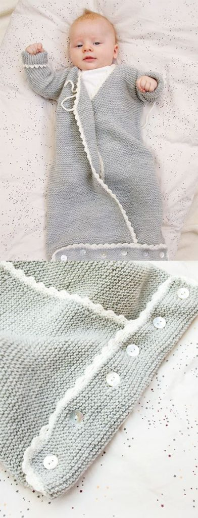 Free Knitting Pattern for Catch a Wink Baby Sleeping Bag