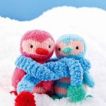 Free Knitting Pattern for Christmas Penguin Pals