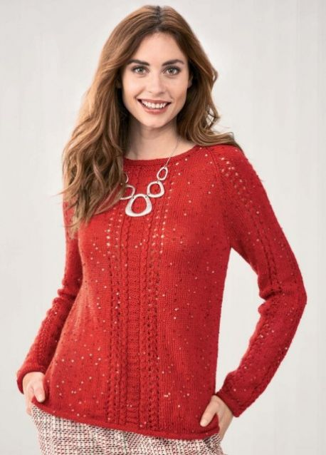 Free Knitting Pattern for a Glitzy Christmas Jumper