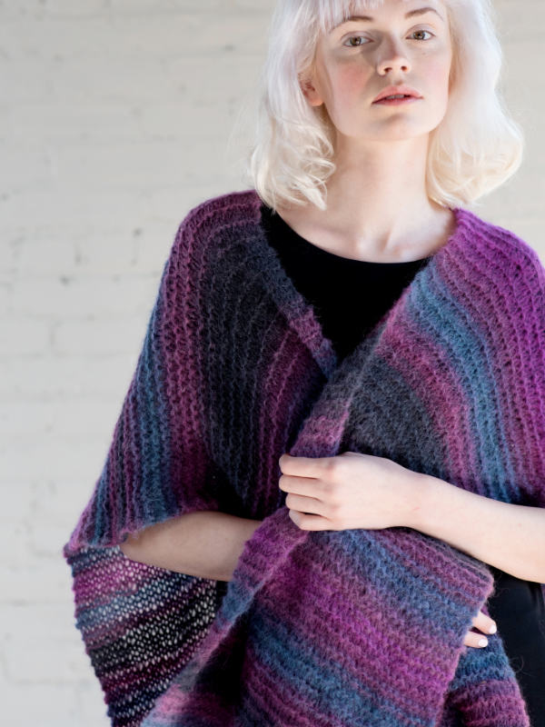 Free Knitting Pattern for an Easy Poncho