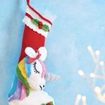 Free Knitting Pattern for a Unicorn Christmas Stocking