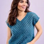 Free Knitting Pattern for an Easy Lacy Vest