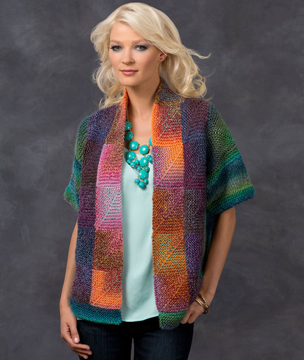 Free Knitting Patterns for Ladies Jackets with metered squares