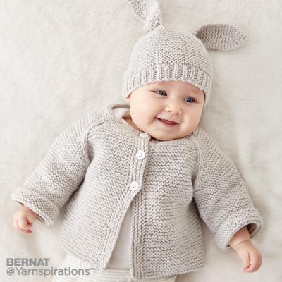 Free Knitting Pattern Garter Stitch Baby Cardigan ...