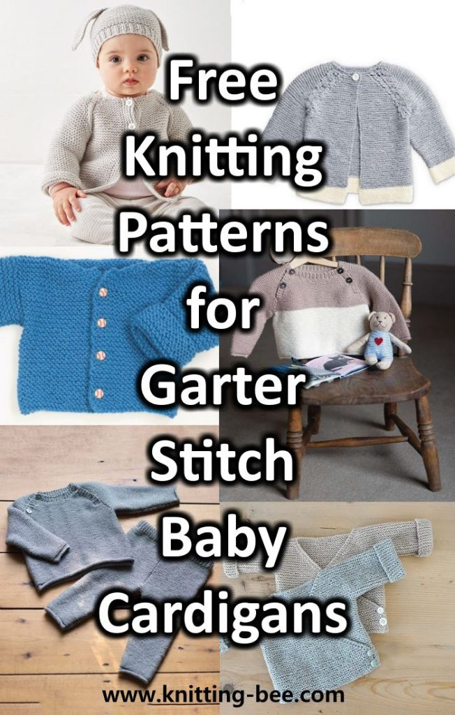 Free Knitting Pattern Garter Stitch Baby Cardigan Downloadable NOW!