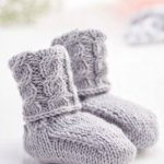 Free Knitting Pattern for Quick Cable Baby Boots