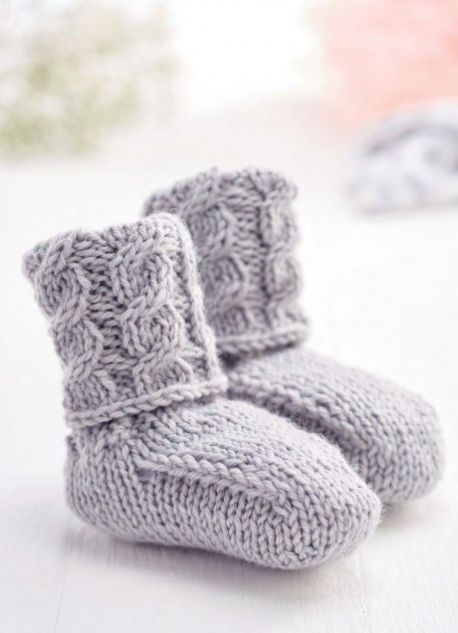 caa9eec8b9b02 Booties & Socks ⋆ Knitting Bee (99 free knitting patterns)