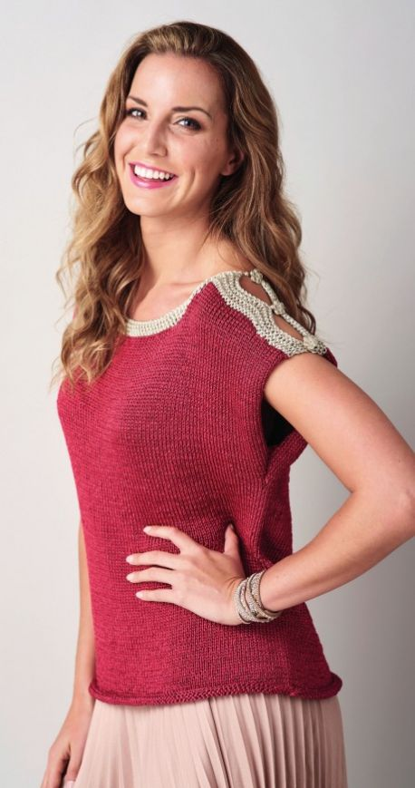 Free Knitting Pattern for a Woman's Super Simple Silky Top
