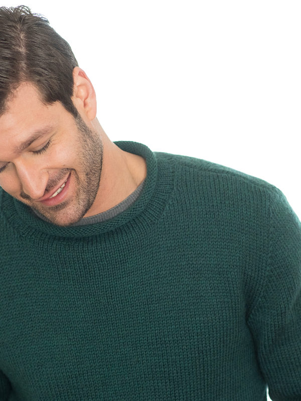 Free Knitting Pattern for an Easy Man's Sweater Anthony