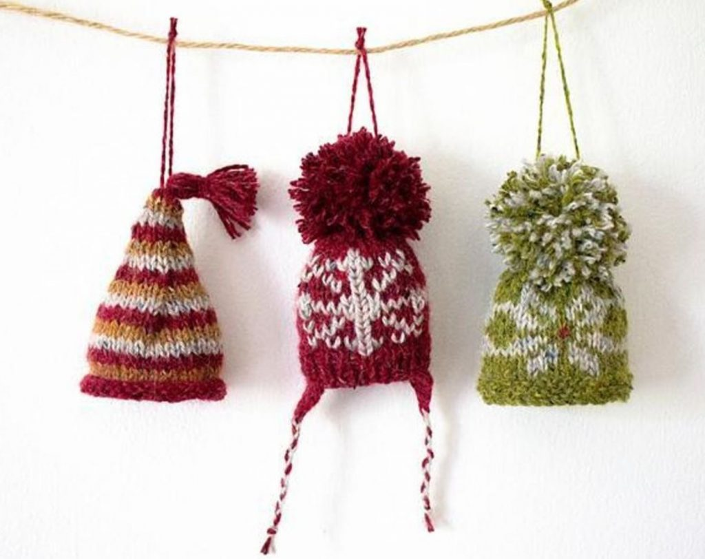 Free and Quick Christmas Knitting Patterns for 2018 Hat Ornaments