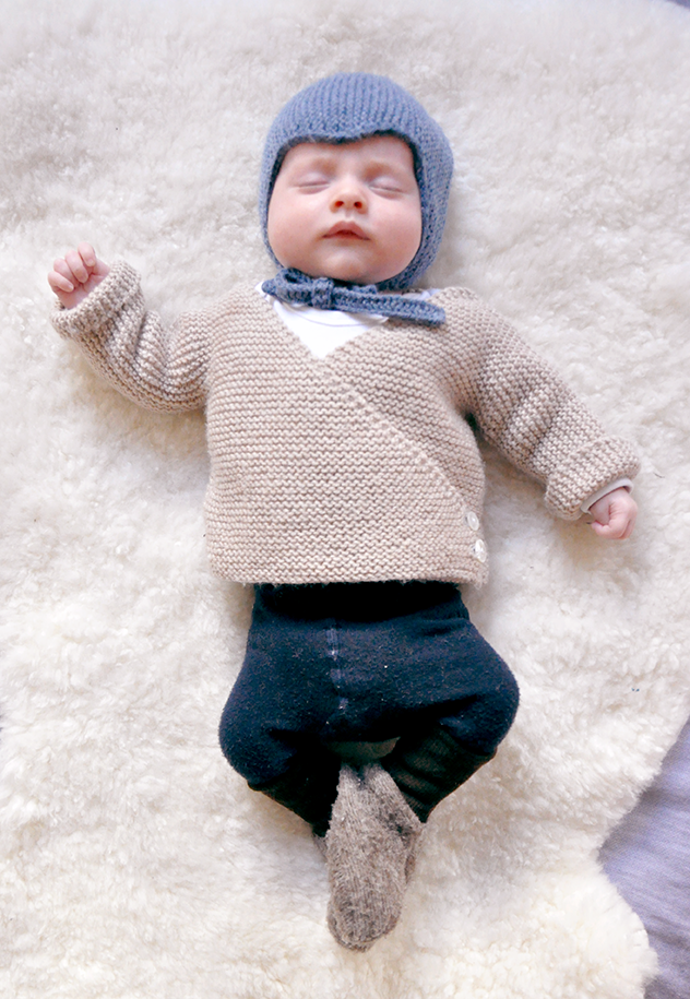 Free Knitting Pattern Garter Stitch Baby Cardigan Downloadable Now