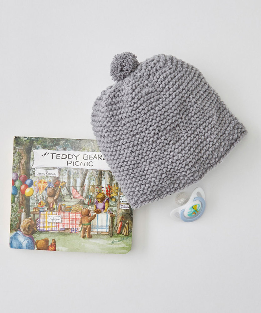 Easy baby hat knitting pattern for beginners. Free knitting patterns for baby.